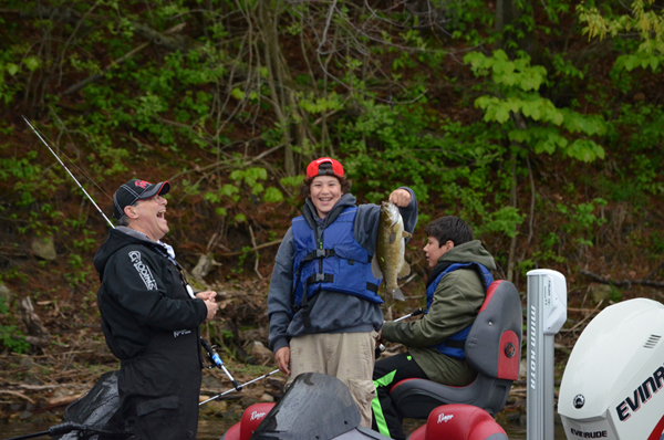 Kids for fishing event nets sizeable donation annual for Kids fishing nets