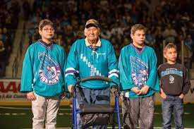 """Rochester Knighthawks Honor Akwesasronon Code Talker on their Annual Native American Night– …""""this celebration should have taken place 70 years ago; unfortunately it didn't.""""–"""