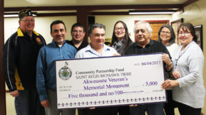 Tribal Council Supports Akwesasne Veterans Memorial Monument